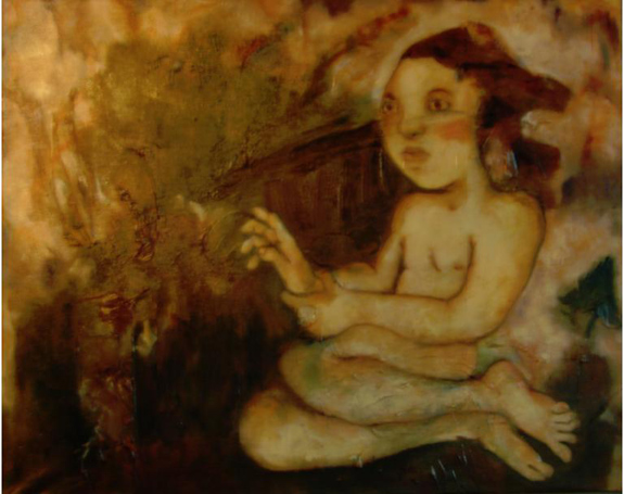 """I Destroy Everything I Touch"" (2009), óleo sobre lienzo, 70 x 90 cm, colección privada"